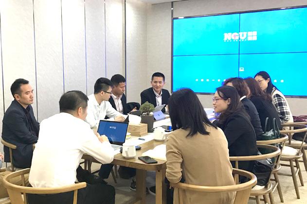 3月27日上午中顺洁柔拜访锐博集团,共同探讨员工的线上管理的好处